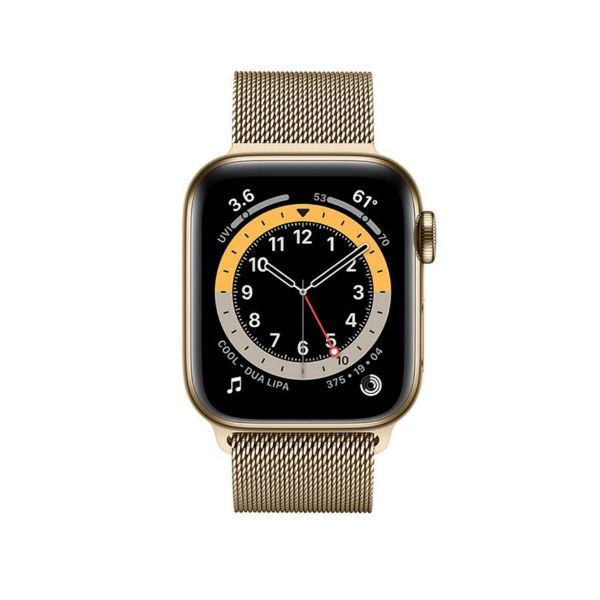 Picture of 44mm  Apple Watch Series 6 GPS + Cellular, Stainless Steel Case with Milanese Loop