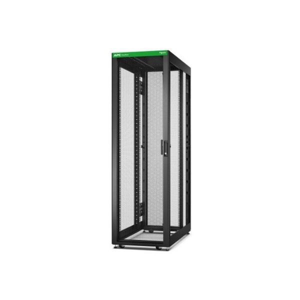 Picture of Easy Rack 600mm/42U/1200mm , with Roof, castors,feet and 4 Brackets, No Side panels,Bottom, black