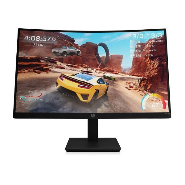 """Picture of HP Monitor X27qc 27"""" curved VA QHD 2560X1440 Gaming 16:09 165HZ/1MS DP/HDMI/3YW 1+2"""